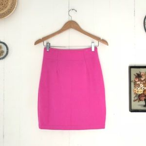 Vintage Bubble Gum Pink Pencil Skirt